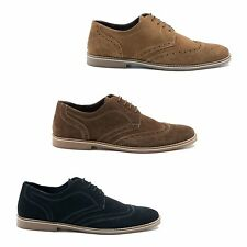 Red Tape CHECKLEY Mens Soft Suede Leather Casual Traditional Brogue Derby Shoes