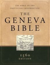 The Geneva Bible: 1560 Edition, genuine leather, black The Bible of the