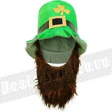Irish Leprechaun Hat With Beard St Patrick Day Ireland Paddys Clover Football