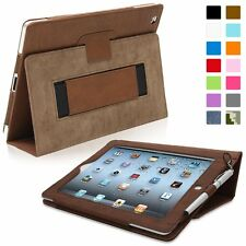 Snugg Leather Kick Stand Case for Apple iPad 2 - Distressed brown