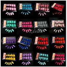 100 PCS  Women Colorful Acrylic Gel French Half False Nail Tips