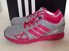 New adidas HYPERFAST K Gray/Berry Running Lace-Up Girls' Athletic Shoes-Choice