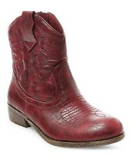 CAT & JACK Youth Girls Red Linda Zip Up Western Cowgirl Boots - NWT