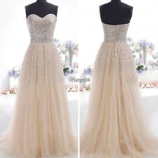Women Long Sequin Evening Party Cocktail Prom Gown Wedding Maxi Dress UTAR