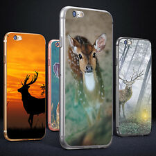 Sika Deer Print Phone Case Cover for iPhone 5 6S 7 Plus Samsung Galaxy Refined