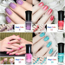 6ml Color Changing Thermal Nail Polish Peel Off Nail Reliable Art Varnish Decor