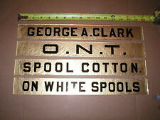 Clarks 4 Drawer Spool Cabinet NEW Glass Name Plates, like originals, 16