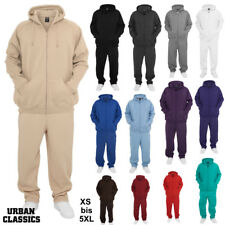 Urban Classics Blank Suit Jogging Tracksuit Hoodie + Trousers Gym Fitness