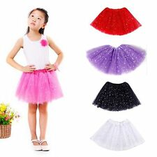 Princess Dressup Party Costume Ballet Dancewear Bling Sequin Tulle Tutu Skirt