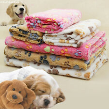 Soft Fleece Beige/Pink/Camel Dog Claw Patterns Pets Fluffy Blankets Supplies