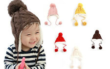 Trendy Winter Baby Beanie Hat Cap Warm Cute Kids Boys Girls Toddler Knitted USES
