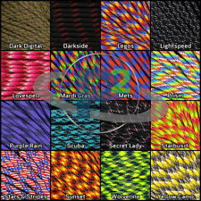 550 Paracord 7 Strand Outdoors Survival 10 25 50 100 Ft Bright New Colors!