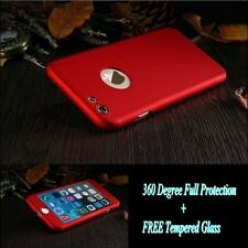Full Protection 360° Hard Case Cover w/FREE Tempered Glass For iPhone 6 6S Plus