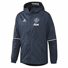 adidas Childrens Football Manchester United Training All Weather Jacket - Blue