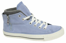Converse Ct Pc Side Zip Mid Blue Suede Womens Unisex Trainers 136428C WH