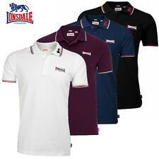 Lonsdale Mens Polo Shirt Lion Men Polo Shirt Boxing SLIM FIT Size S to 3XL