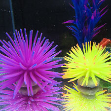 Silicone Aquarium Fish Tank Artificial Coral Plant Underwater Ornament Decor USE