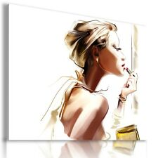 """BEAUTIFUL LADY Canvas Wall Art Abstract Picture Large SIZE 30X22 """"AB220"""