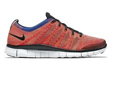 NIKE FREE FLYKNIT NSW BRIGHT CRIMSON SIZE 6 40 TRAINER RACER 4.0 LUNARGLIDE AIR