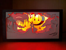 Romantic Fairy Tale LED Light Wooden Lamp, Multi Layer Silhouette Shadow Box