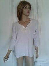 M & S LIMITED COLLECTION OATMEAL TOP SIZE 14 MACRAME LACE