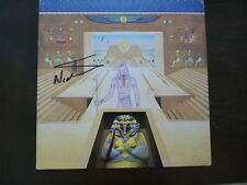 Nicko McBrain Iron Maiden Autographed Signed LP Flat Poster PSA Guaranteed  READ