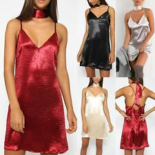 Women's Sexy Sleeveless V-neck Evening Party Cocktail Clubwear Short Mini Dress