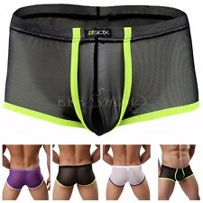 NEW MENS LOW RISE BRIEF BOXER TRUNKS MESH BULGE POUCH UNDERWEAR