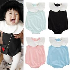 Toddler Baby Girls Summer Cotton Romper Jumpsuit Bodysuit Clothes Outfits 0-24M