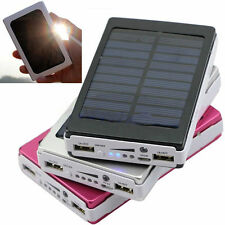 Waterproof 380000mAh Portable Solar Charger Dual USB Battery Power Bank Phone SE