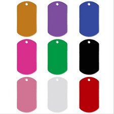 20pcs Pet ID Tag Rectangle Shape Engraved ID Cat Dog Charm Double Sided QW