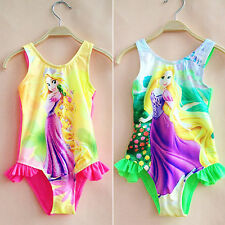 Cute Girls Kids Bathing Suit Swimwear Bikini Tankini Swimming Costume 2-10Years