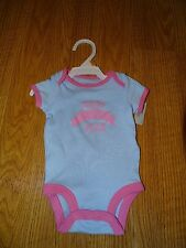 Carters Baby Girls NB/6/9 MONTHS ONE PIECE BODYSUIT BLUE BABY OF THE YEAR NWT