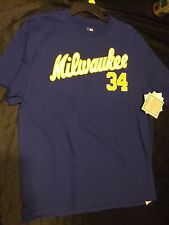 Men's Large Milwaukee Brewers #34 Fingers T-shirt - NWT!!