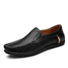 GOMNEAR Men Big Size Genuine Leather shoes Loafers Non slip Dress Casual shoes