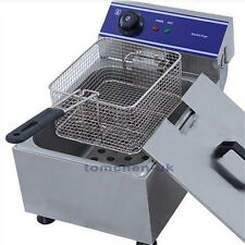 10L Electric Deep Fryer Commercial Basket Stainless Steel Tank Fat Chip 6L Oil