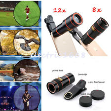 8×12× Zoom Optical Telescope Magnifier Phone Camera Lens Clip For Iphone Samsung