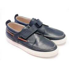 Step 2wo Boys Blue Leather Deck Shoes   RRP £50