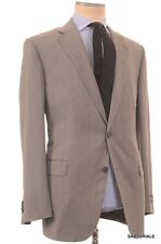 BELVEST Made In Italy Hand Made Gray Herringbone Super 110's Wool Suit NEW