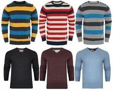 Mens Brave Soul Slim Fitted V Neck Crew Neck Knitted Jumper Jacquard D26