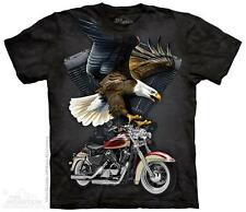 """EAGLE MOTORCYCLE """"IRON EAGLE"""" ADULT T-SHIRT THE MOUNTAIN"""