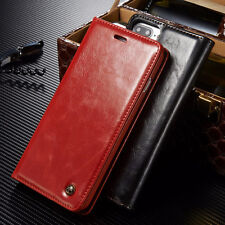 Flip PU Leather Wallet Case Credit Card Holder Magnetic Cover For iPhone Samsung