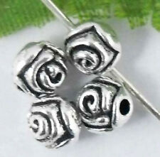 Free Ship 100/380Pcs Tibetan Silver Flower Spacer Beads 5mm