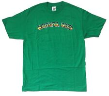 Grateful Dead Rainbow Name Logo Classic Green T Shirt New Official Licensed