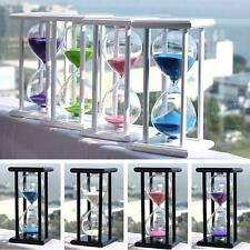 Colors! 15/ 30Min Wooden Sand Sandglass Hourglass Timer Clock Special Decor Gift