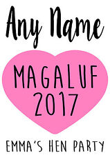 PERSONALISED Wedding Hen Party Iron on T shirt Transfers DIY custom Any name
