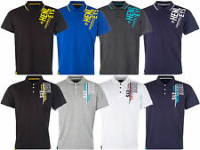 Mens Henleys  Polo Shirt  Printed Cotton T Shirt