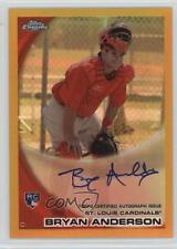 2010 Topps Chrome Rookie Autographs Gold Refractor #172 Bryan Anderson Auto Card