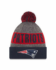 NFL New England Patriots Era 2017 American Football & Rugby Bobble Beanie Hat