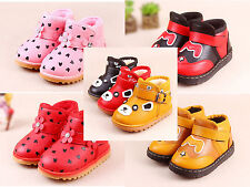 Toddler Boys Girls Casual travel Walk Flat Fur Pump Ankle Boots Shoe Infant Size